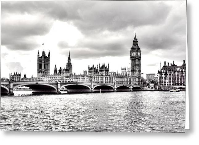 London Town Greeting Card by Fizzy Image