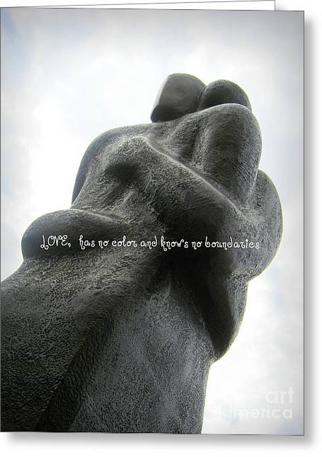 Love Has No Color And Knows No Boundaries Greeting Card