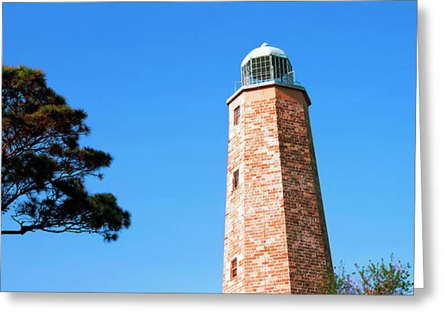 Low Angle View Of A Lighthouse, Cape Greeting Card by Panoramic Images