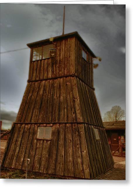Majdanek Greeting Card by Jacek Niewiadomski