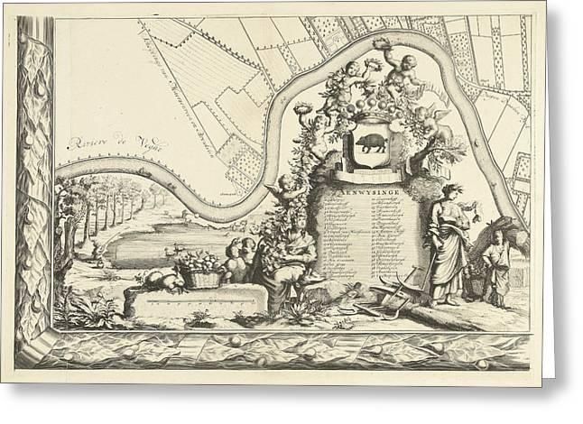 Map Of The Heerlijkheid Maarsseveen, The Netherlands Greeting Card