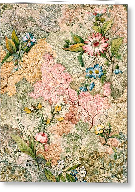Marble End Paper  Greeting Card by William Kilburn