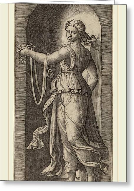 Marcantonio Raimondi After Raphael Italian Greeting Card by Litz Collection