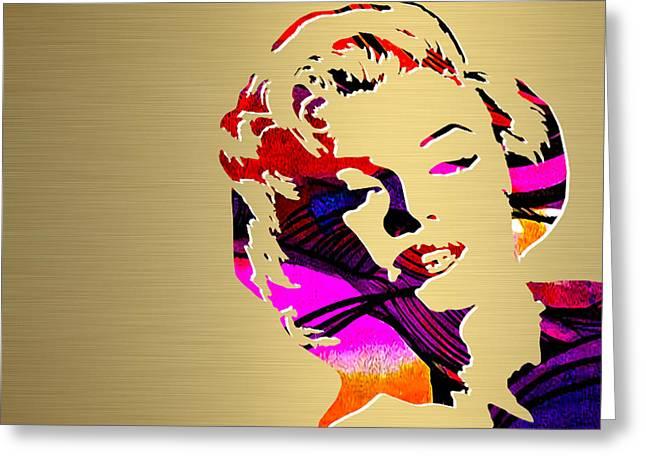 Marilyn Monroe Gold Series Greeting Card