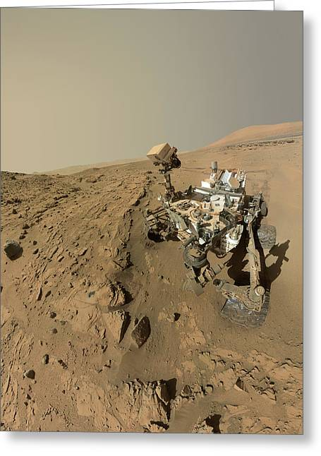Mars Curiosity Rover Self-portrait Greeting Card by Nasa/jpl-caltech/msss