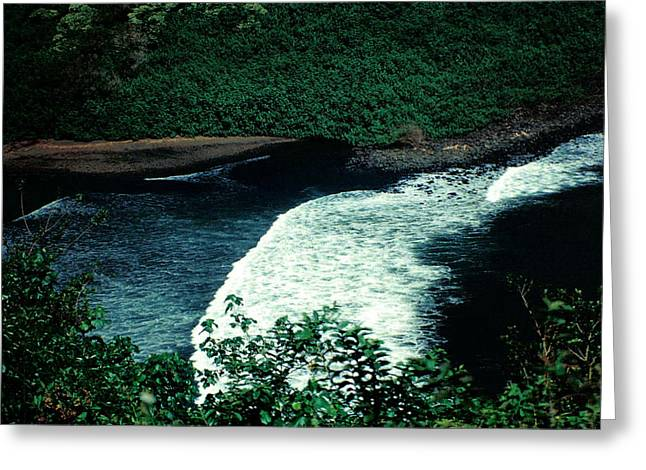 Maui Black Sand Beach Greeting Card by J D Owen