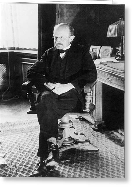 Max Planck Greeting Card by Emilio Segre Visual Archives/american Institute Of Physics