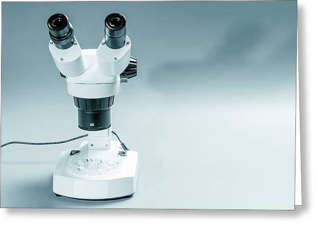 Medical Microscope Greeting Card by Wladimir Bulgar