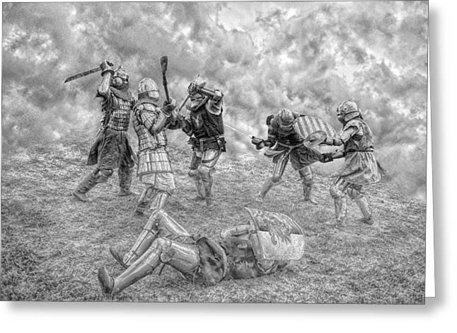 Greeting Card featuring the photograph Medieval Battle by Jaroslaw Grudzinski