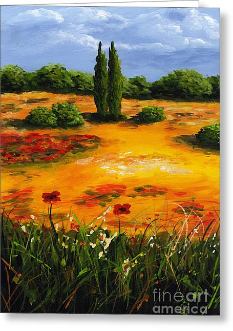 Mediterranean Landscape Greeting Card by Edit Voros