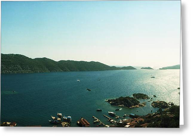 Mediterranean Sea Viewed Greeting Card by Panoramic Images