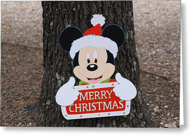 Mickey Mouse Greeting Card by Dick Willis