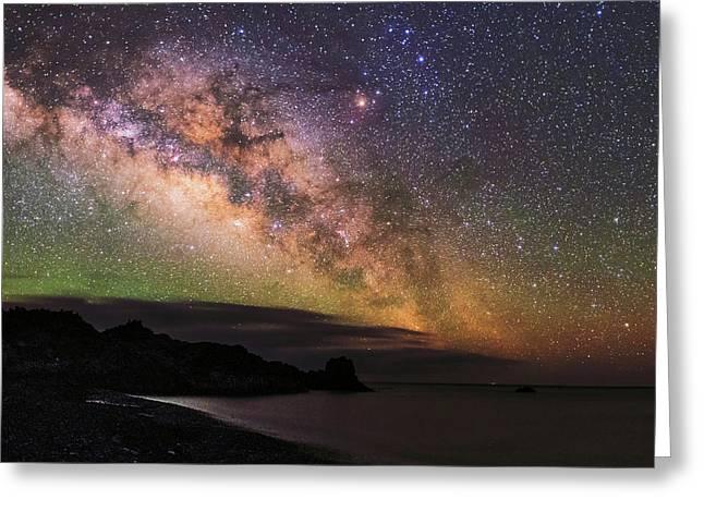 Milky Way Over La Palma Greeting Card