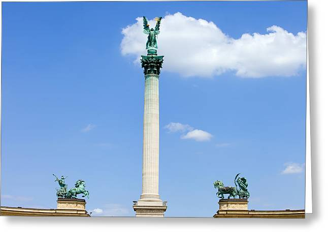 Millennium Monument In Budapest Greeting Card by Artur Bogacki