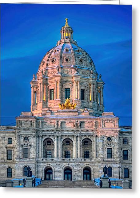 Minnesota State Capitol St Paul Greeting Card by Amanda Stadther