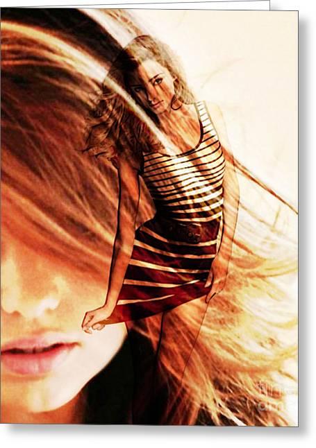 Miranda Kerr Greeting Card
