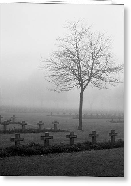 Mist At Cemetery Greeting Card