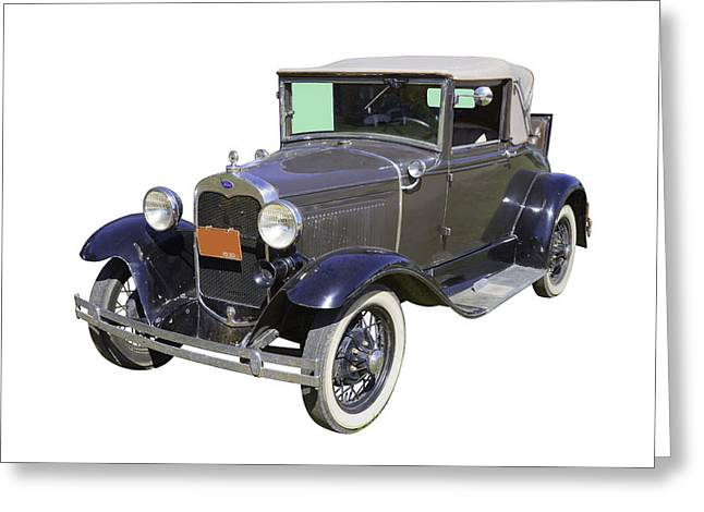 Model A Ford Roadster Convertible Antique Car Greeting Card by Keith Webber Jr