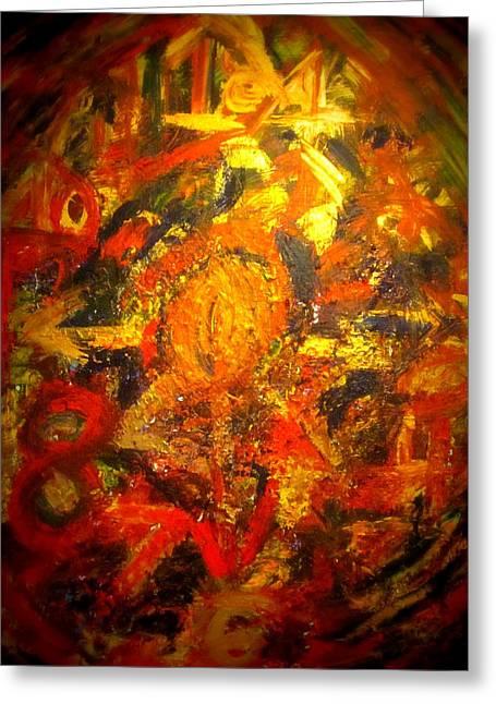 Modern Abstract Art Acrylic Painting Original Canvas  Greeting Card