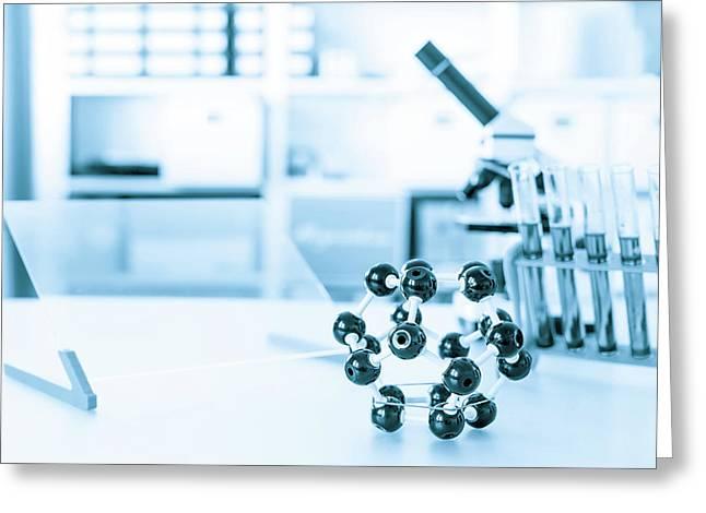 Molecular Model Greeting Card by Wladimir Bulgar