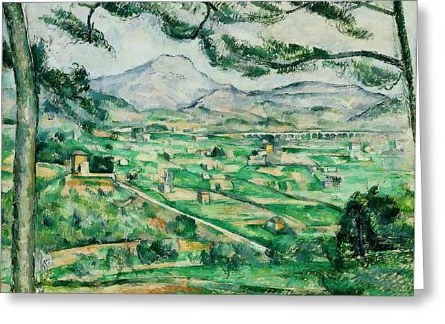 Mont Sainte-victoire Greeting Card by Paul Cezanne