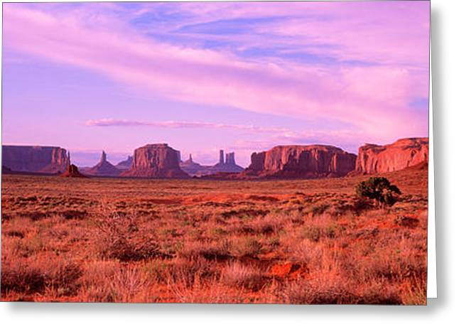 Monument Valley, Utah, Usa Greeting Card by Panoramic Images