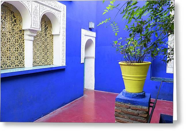 Morocco, Marrakech, Jacques Majorelle Greeting Card