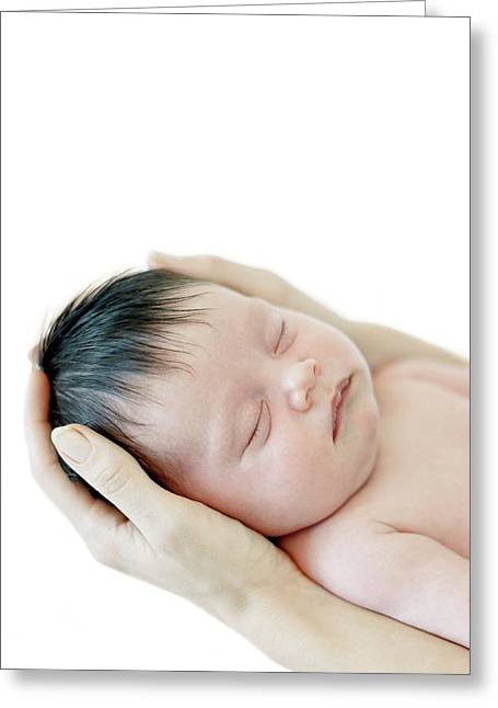 Mother And Baby Girl Greeting Card