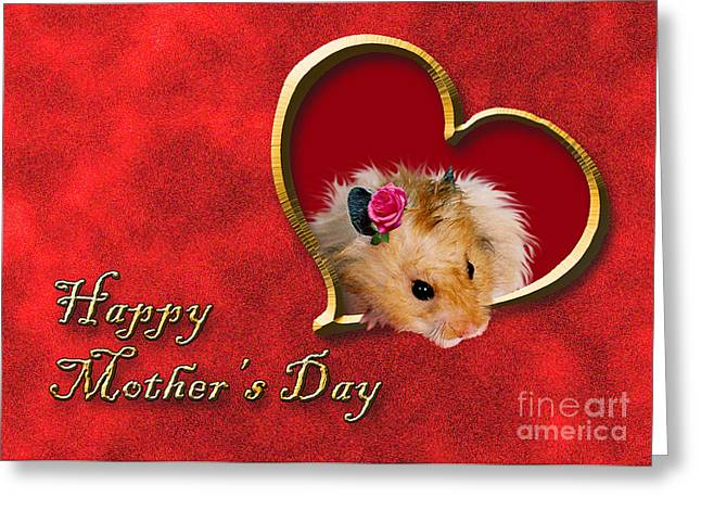Mother's Day Hamster Greeting Card by Jeanette K
