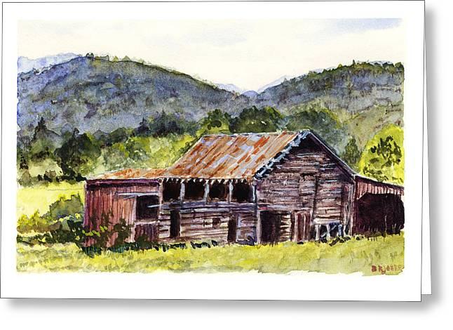 Farm - Rustic - Mountain Barn Greeting Card by Barry Jones