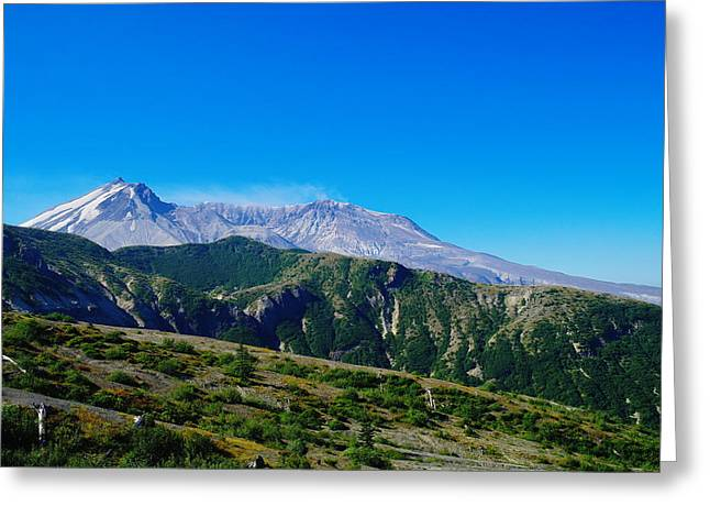 Mt St Helens Greeting Card by Jeff Swan