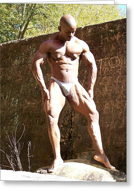 Muscle Art Greeting Card by Jake Hartz