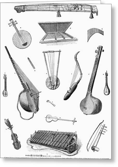Musical Instruments Greeting Card by Granger