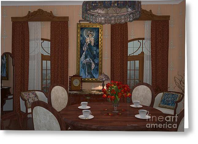 My Art In The Interior Decoration - Elena Yakubovich Greeting Card by Elena Yakubovich