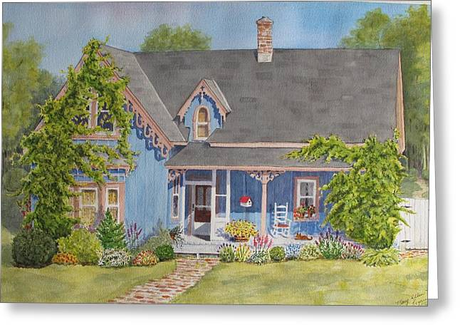 My Blue Heaven Greeting Card by Mary Ellen Mueller Legault