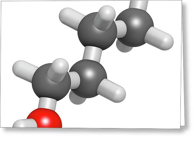 N-butanol Molecule Greeting Card by Molekuul