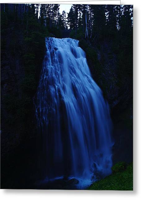 Narada Falls Greeting Card by Jeff Swan