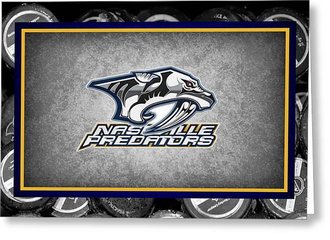 Nashville Predators Greeting Card by Joe Hamilton