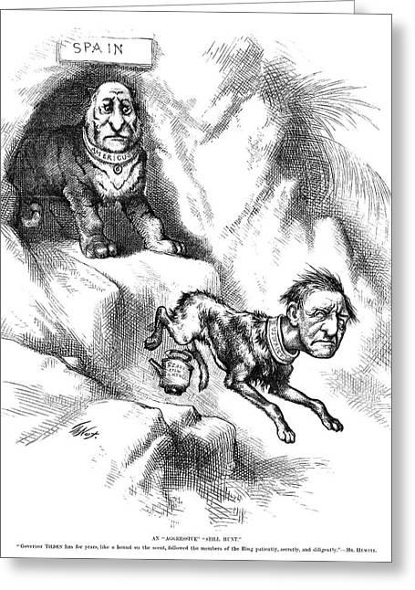 Nast Tilden Cartoon, 1876 Greeting Card by Granger
