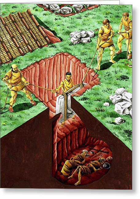 Neolithic Burial Pit Greeting Card