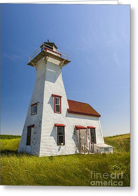 New London Range Rear Lighthouse Greeting Card by Elena Elisseeva