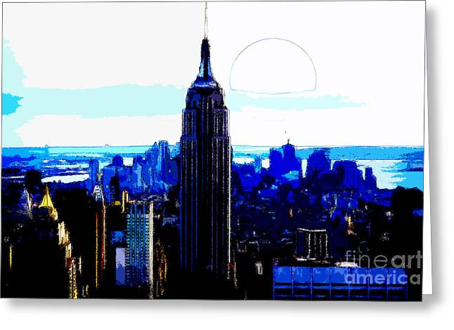 New York City Greeting Card by Celestial Images