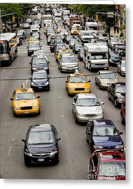 New York City Traffic Greeting Card by Mark Williamson