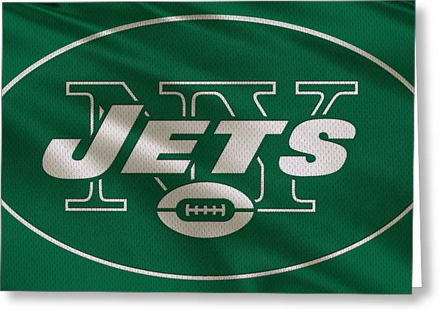 New York Jets Uniform Greeting Card