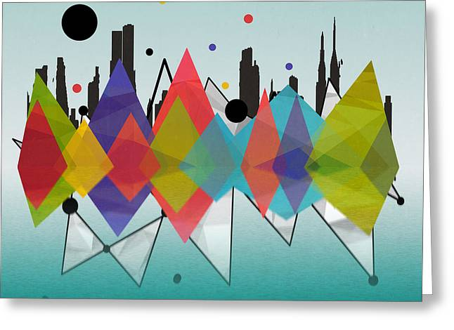 New York Greeting Card by Mark Ashkenazi
