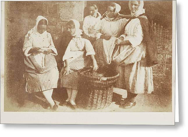 Newhaven Fisherwomen Greeting Card by British Library