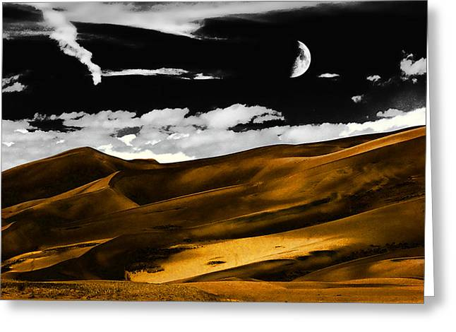 Night At The Great Sand Dunes Greeting Card