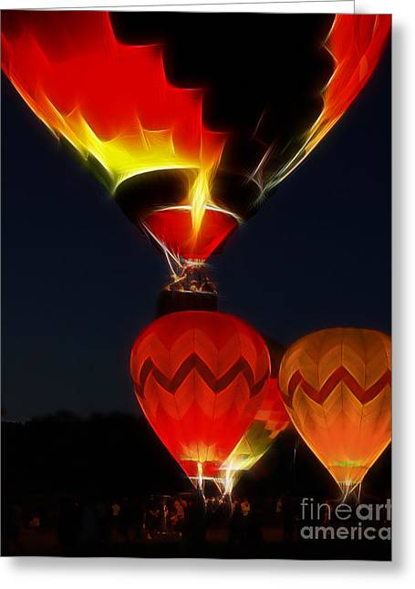 Night Of The Balloons Greeting Card by Raymond Earley