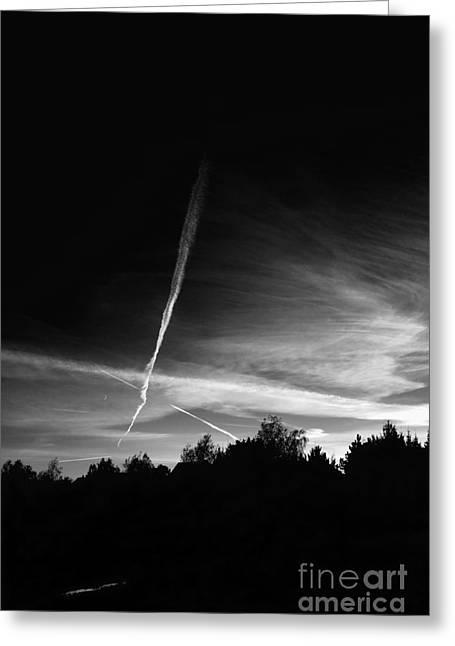 Night Sky Greeting Card by Dariusz Gudowicz