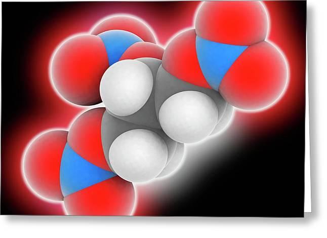 Nitroglycerin Molecule Greeting Card by Laguna Design